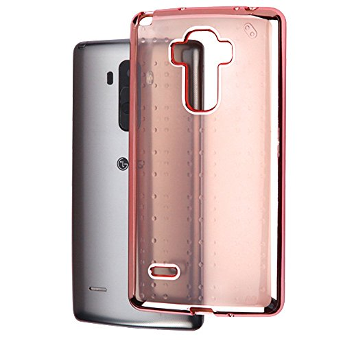 LG G Stylo Case, G Vista 2 Case, JoJoGoldStar Transparent Cover, Slim Fit Ultra Thin Polycarbonate Silicone TPU Case with Stylus and Screen Protector - Rose Gold Tint (Lg 3g Phone Cases With Port Cover)