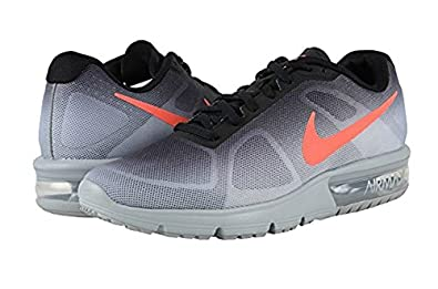 amazon com nike air max sequent metallic silver black dark grey