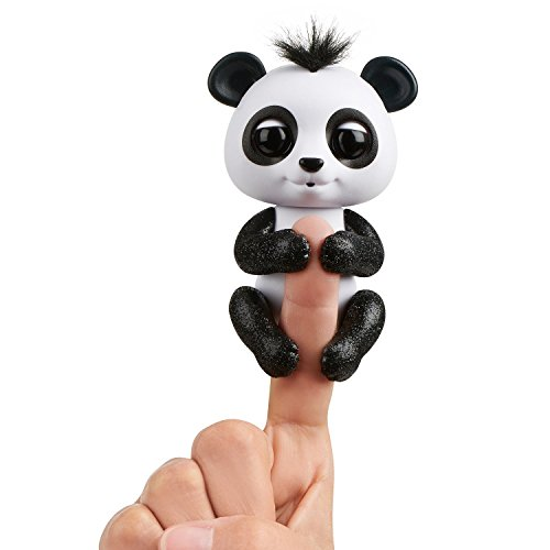 WowWee Fingerlings Glitter Panda - Drew (White and Black) - Interactive Collectible Baby Pet by WowWee