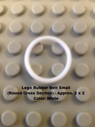 Lego Parts: Rubber Belt Small (Round Cross Section) - 2 x 2 (White)