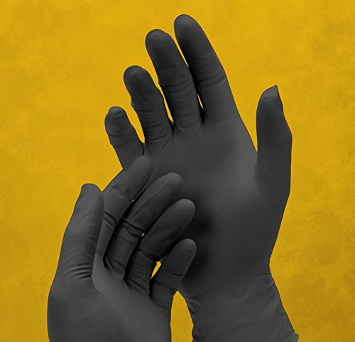 Adenna DLG675 Dark Light 9 mil Nitrile Powder Free Exam Gloves (Black, Medium) Box of 100 by Adenna (Image #1)