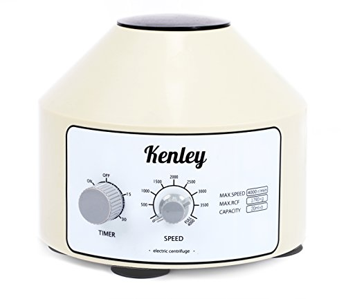 Kenley Desktop Electric Lab Laboratory Centrifuge with Timer and Speed Control - 4000 rpm - Capacity 20 ml x 6