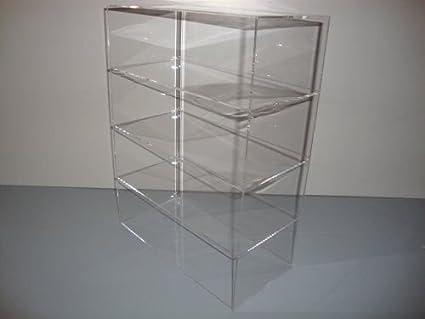 Acrylic Lucite Countertop Display Case Showcase Box Cabinet 12u0026quot; ...