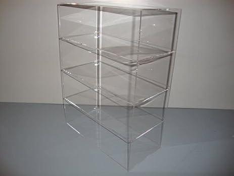 acrylic lucite countertop display case showcase box cabinet 12u0026quot