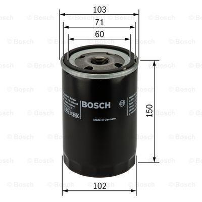 Bosch 0 986 452 063 Filtre Huile