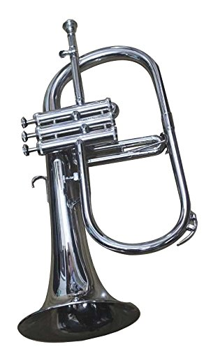Queen Brass Flugelhorn Chrome Bb Pitch W Hardcase Mp Fluglehor Silver by Queen Brass