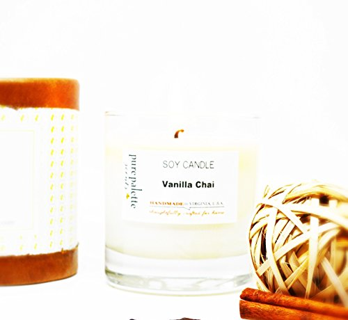 Vanilla Chai Scented Soy Candle Handmade in Virginia, U.S.A