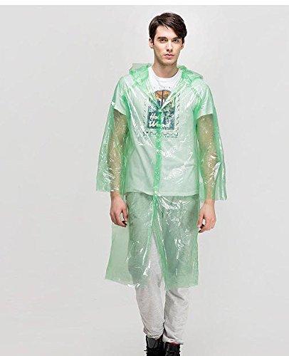 Mega Shop Rain Ponchos Size Medium Camouflage Raincoat Mat Awning Climbing Camping Hiking Backpack Waterproof Poncho Multifunctional Outdoor (Green)