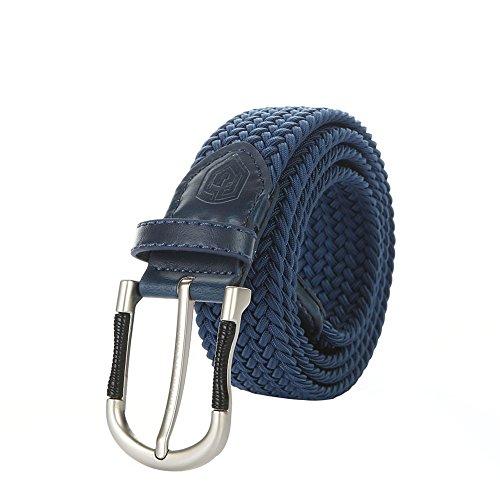 Handled Hug (Anchor & Shield Braided Belt, Premium Stretch Woven Belt Men's Dress Belt (XL, Blue-02))