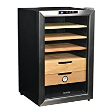 NewAir CC-300 Thermoelectric Cigar Humidor, Stainless Steel