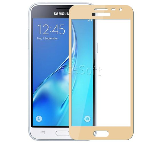 Full Coverage 9H Hardness Scratch Resistant Anti-Shatter 2.5D Rounded Edges Tempered Glass Screen Protector [Easy to Install] for Samsung Galaxy J3 V SM-J320V Verizon Android phone by SodaPop