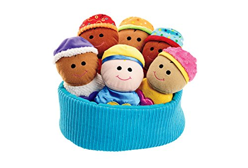 Excellerations Plush Basket of Sensory Babies - 7 Pieces (Item # SENSBABY)
