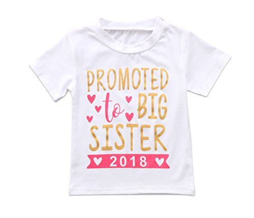 Rush Dance Boutique Newborn Lil Little Sister Or Big Sister Outfit Dress Sets (5T, Promoted to Big Sister 2018)