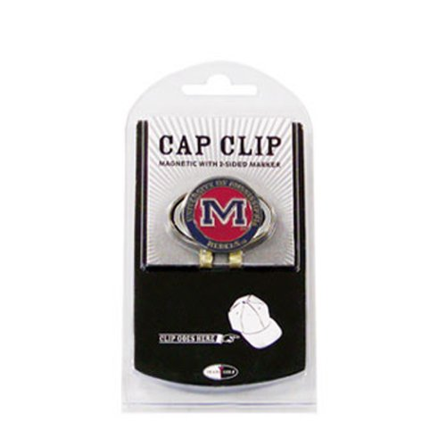 Team Golf NCAA Ole Miss Rebels Golf Cap Clip with Removable Double-Sided Enamel Magnetic Ball Marker, Attaches Easily to Hats ()