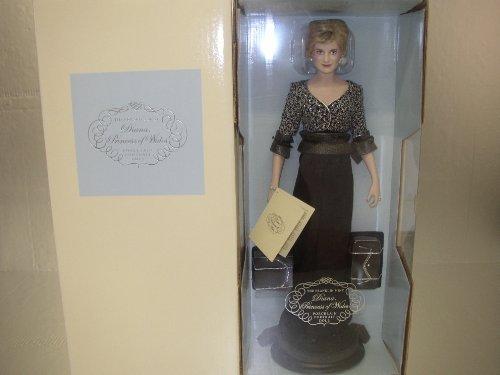 Diana, Princess of Wales Porcelain Portrait Doll~Black Silk Charmeuse Crepe (Princess Diana Porcelain)