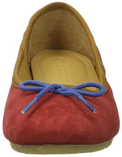 Kickers Women's Baie Ballet Flats, Blue/Orange Rot (Rouge Bleu)