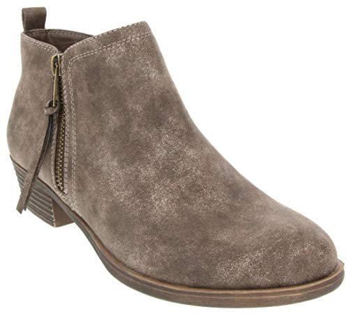 Rampage Women's Tarragon Ankle Bootie Brown Metallic 9.5