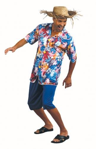 c1fe4c87e Amazon.com: Value Costume: Tourist Hawaiian Shirt Man (Adult): Toys & Games