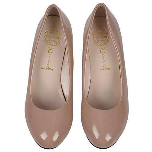 Verni Femmes Femmes 5CM 5 22 US4 Chaussures couleur Talons SODIAL EUR35 Toe Casual Pompes En de Crème 85pouces Nouvelles 8 Cuir longueur Chaussures Pointu Travail a Creme De R Nu awFqvqE