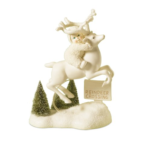 Department 56 Snowbabies Reindeer Crossing