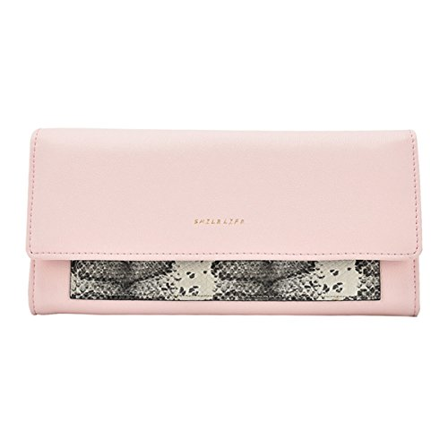Kukoo Women's Long Leather Wallet Fashion Snakeskin Design Clutch Bag Credit Card Holder Purse - Snake Long Wallet