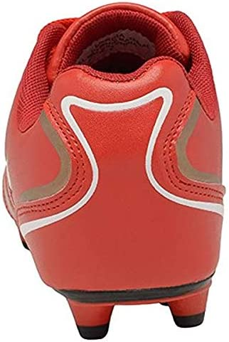 Red Larcia Kids Ground Soccer Shoes Little Boys /& Girls Cleats