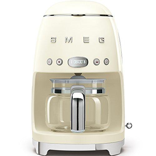 SMEG 1950's Retro Style Coffee Maker Machine (Cream)
