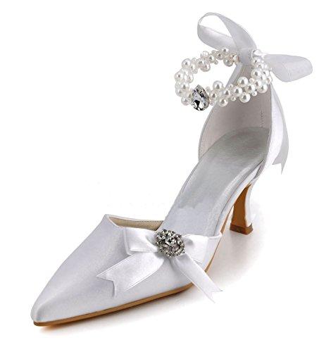 Minitoo , Chaussures de mariage tendance femme Silver-7.5cm Heel