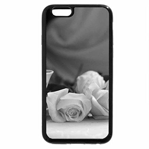 iPhone 6S Case, iPhone 6 Case (Black & White) - Morning Tea Roses