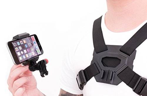 Action Cam Chest Mount for Your iPhone, Samsung Galaxy, & Note That Turns Your Smartphone Into an Action POV Camera.
