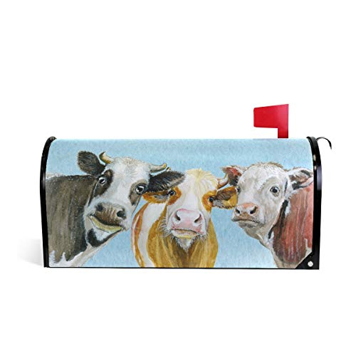 Tarity Magnetic Mailbox Cover Funny Cows Home Garden Summer...