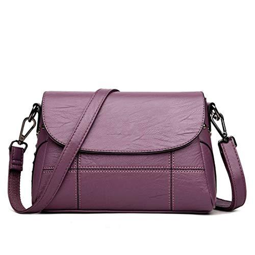 Bolso de hombro de las mujeres, mini bolso de crossbody de la PU, conveniente para los negocios y el ocio Purple