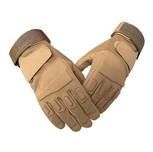 Qiu Ping Men's Outdoor Army Fan Tactical Non-Slip Wear-Resistant Riding Full Finger Gloves