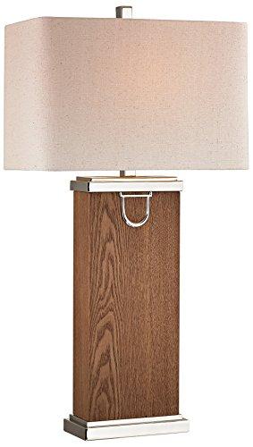 (Dimond Lighting D2555-LED Venner Table Lamp, Dark Walnut/Polished Nickel, 18
