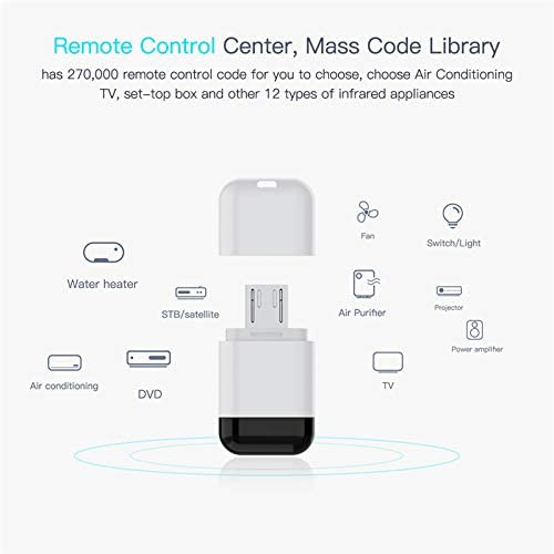 Type-c Micro USB C-Type Interface Smartphone APP Infrared Remote Control Wireless Adapter for TV TV Box and air Conditioner