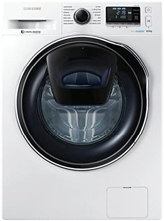 Samsung WW90K6404QW - Lavadora (Independiente, Carga frontal, Blanco, Botones, Giratorio, Tocar, Izquierda, LED)