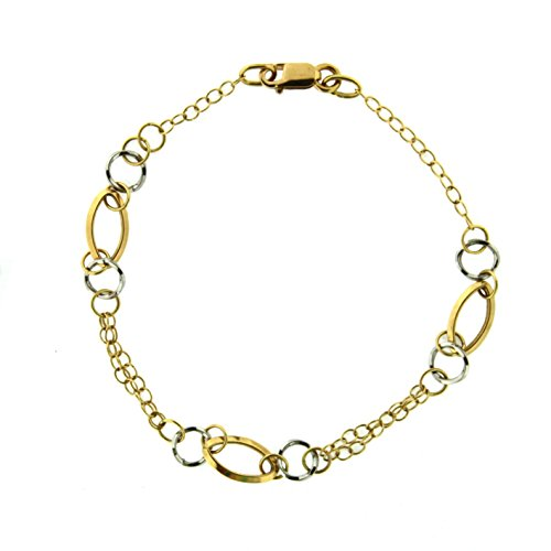 18 k Two Tone ovals bracelet by Amalia