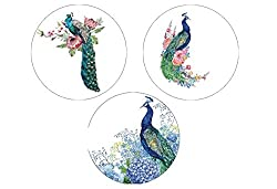 "Real Art | Paradise Decor | Hanging Plates | 3 Pcs 7"" Plate Set"