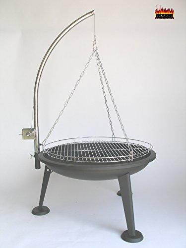 hesani 10360 1 60 cm chrom schwenkgrill grill grillarm aus edelstahl grillrost feuerschale. Black Bedroom Furniture Sets. Home Design Ideas