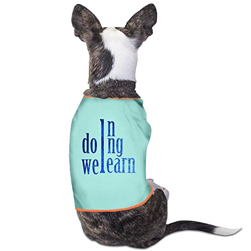 Design Puppy Wear In Doing We Learn For Dog Cats 100% Polyester
