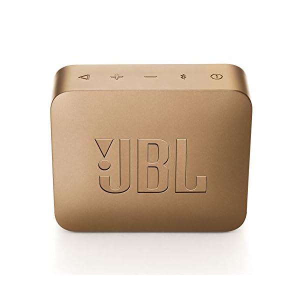 JBL Go 2 - Mini enceinte Bluetooth Portable - Étanche pour Piscine & Plage Ipx7 - Autonomie 5hrs - Qualité Audio JBL - Champagne 5