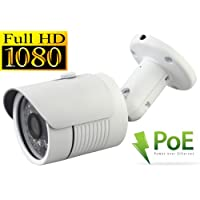 USG 2.4MP 1080P HD-IP PoE Network Bullet Security Camera - 3.6mm Wide Angle Lens - Home/Business Video Surveillance - Outdoor/Indoor IP66 Weatherproof Vandalproof 24 IR LEDs