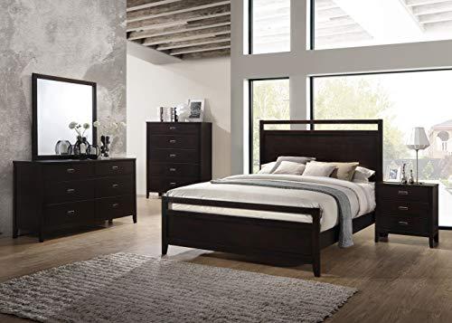 (Kings Brand Furniture - 6-Piece Aloha Dark Cherry Queen Size Bedroom Set. Bed, Dresser, Mirror, Chest & 2 Night)