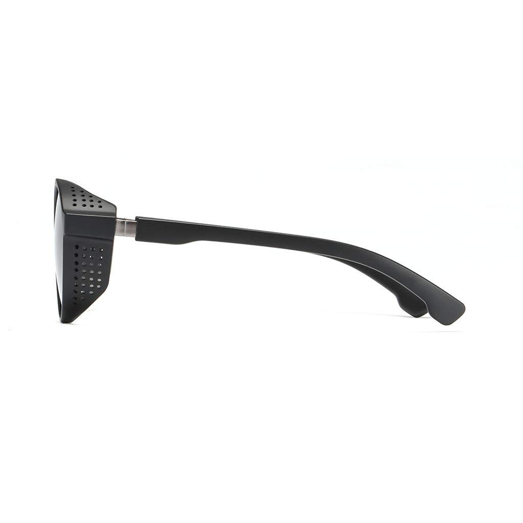 Sunglasses for Men F/_Gotal Men/'s Polarized Stripe Vintage Glasses Sunglasses Military Style Metal Frame for Cycling Driving