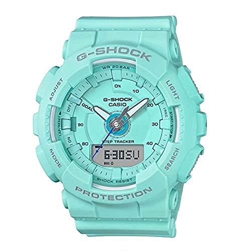 Casio G-Shock S Series 46mm Resin Women's Sports Watch (Blue Mint) (Green Casio Watch Women)