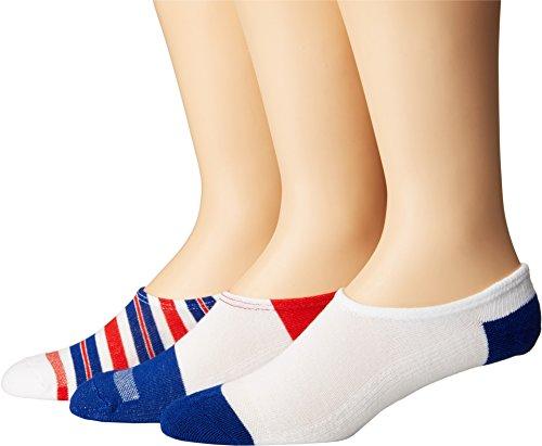 Converse Chucks Yarn-Dye Stripe 3-Pair Pack, White/Red/Blue, 10-13 US Men's