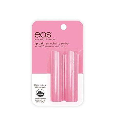 EOS Lip Balm Stick Strawberry Sorbet Two-Pack