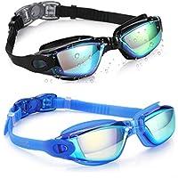 Aegend Swim Goggles, Pack of 2 Swimming Goggles No...