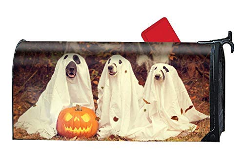 Tollyee Halloween Dog Magnetic Mailbox Cover - Greetings Mailbox Wrap Illustration, Magnetic Mailbox Cover 6.5