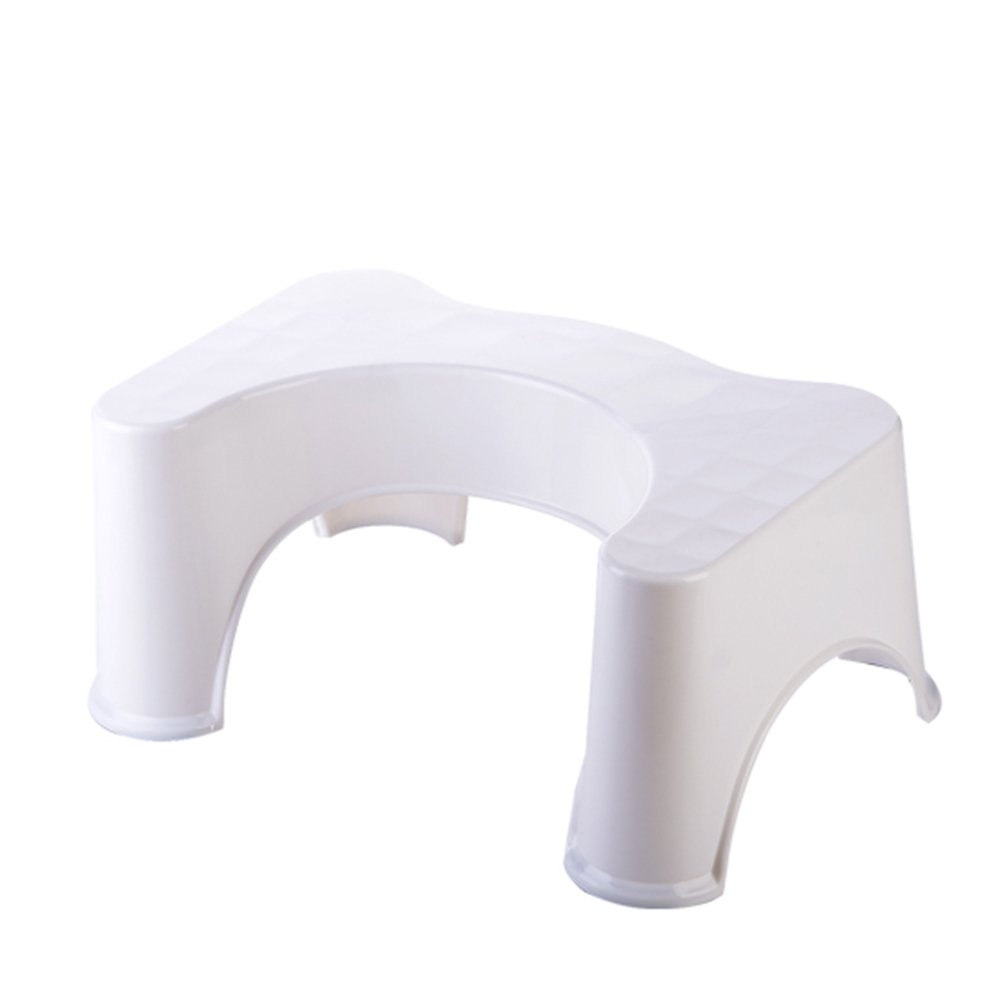 Home-organizer Tech Potty Trainer Toilet Step Stool, The Bathroom Toilet Stool Fits All Toilets/All Ages (White)